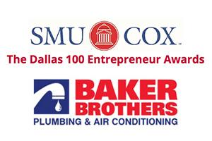 Baker Brothers Plumbing & Air Named a Top 100 Entrepreneurial Company by SMU Cox Dallas 100™