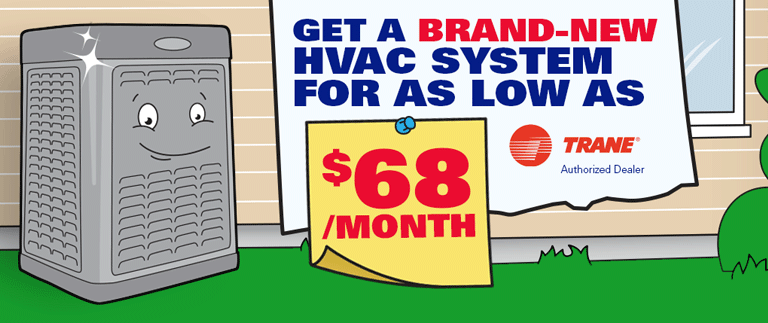 Get a New HVAC System for as low as $68 per month