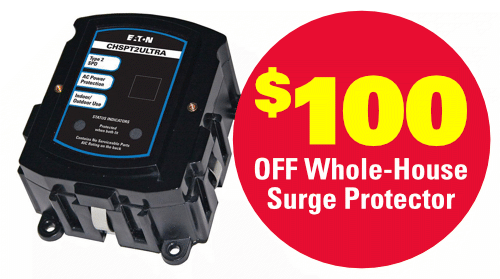 $100 Off Whole-House Surge Protector