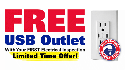 Free USB Outlet with Your First Electrical Inspection