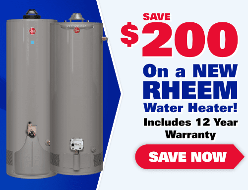 Save $200 On A NEW Rheem Tank Water Heater