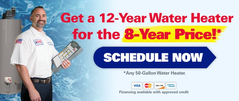 Get a 12-Year Water Heater for the 8-Year Price